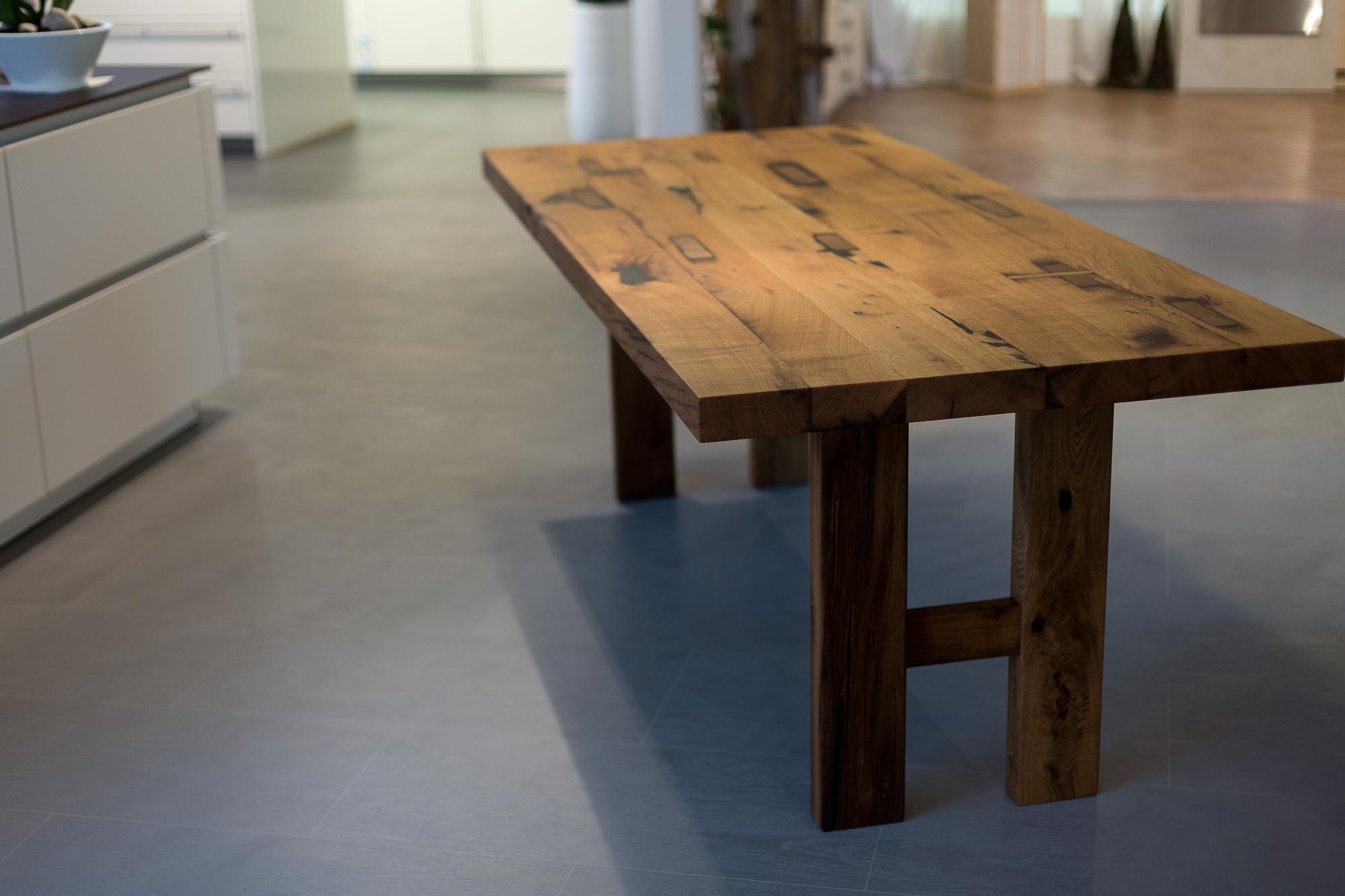 Tisch Aus Eiche Altholz
